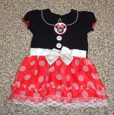 Toddler Girls Disney Minnie Mouse Dress Halloween Costume Polka Dots 18 Months