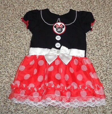 Toddler Girls Disney Minnie Mouse Dress Halloween Costume Polka Dots 18 Months - Halloween Costumes Minnie Mouse Toddler