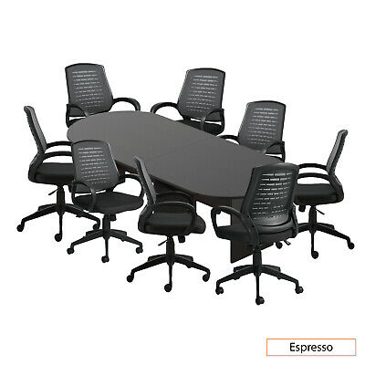 Gof 10ft Conference Table 8 Chairg10902b Set Espresso Color