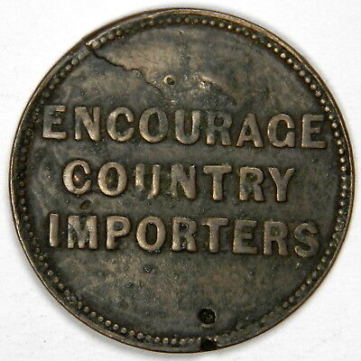 1860 CANADA COPPER ROBERT PURVES CHEAP FAMILY STORE TOKEN - PRICED RIGHT!!! - Cheap Store
