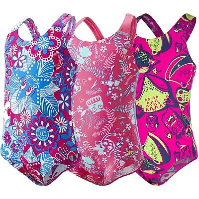 Speedo Infant Girls All In One Swimsuit Swimming Costume Swimwear 6m-6 Years New