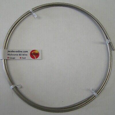 Nichrome 80 Resistance Wire 8 Awg Gauge 5 Feet