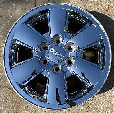 18 inch GMC SIERRA 1500 YUKON 2009-2014 OEM CHROME CLAD WHEEL RIM 5418