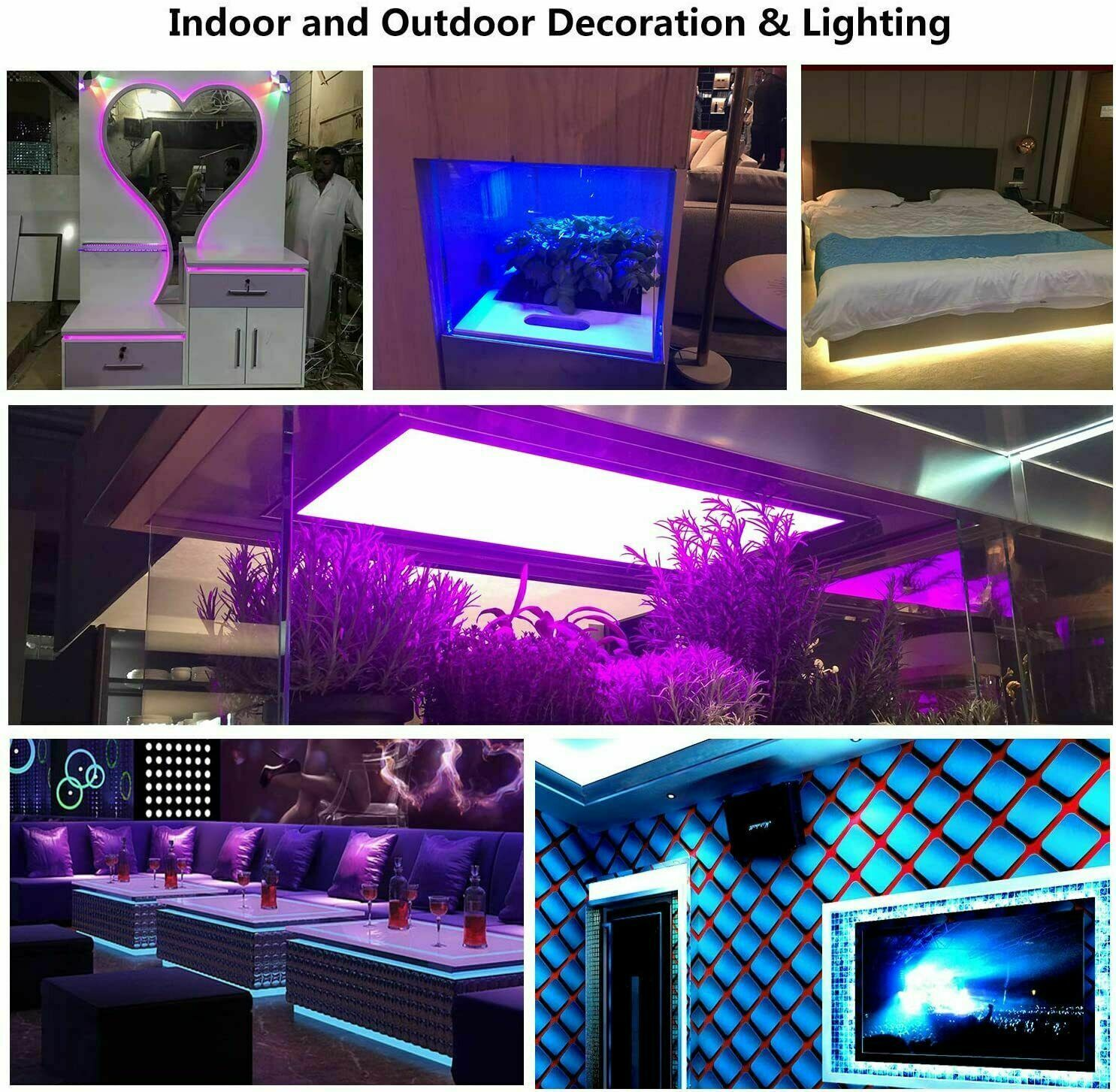 Led Strip Lights 16.4ft RGB Led Room Lights 5050 Led Tape Lights Color Changing Home & Garden