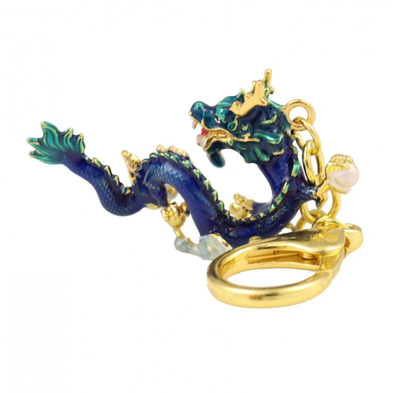 Feng Shui Celestial Water Dragon Amulet Keychain