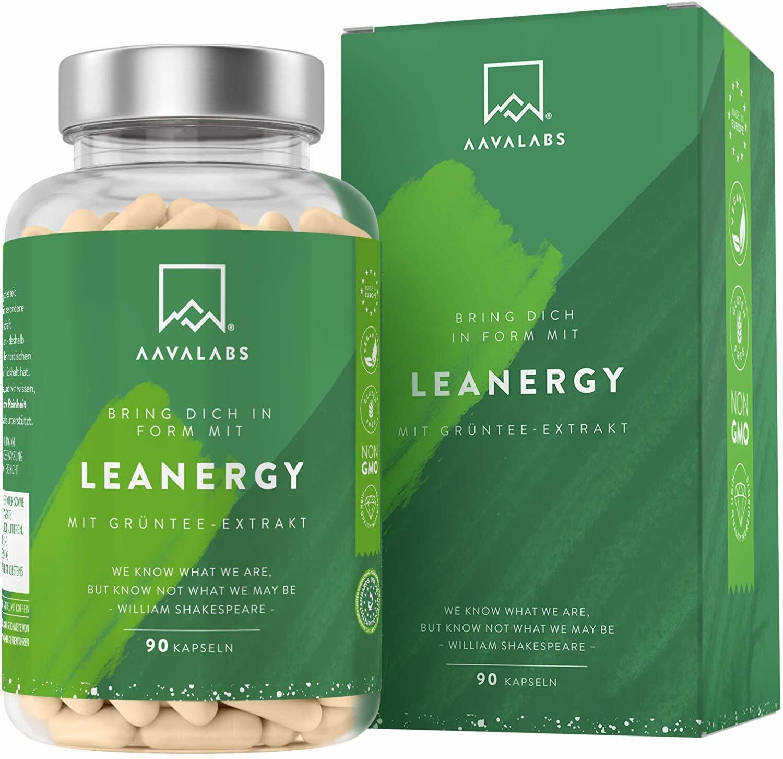Lean Energy - Appetithemmer fett verbrennen - Diät + Grüner Tee - Guarana  vegan
