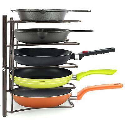 Heavy Duty Kitchen Cabinet Cookware Organizer Rack for Pans Pots Lids Cast Iron