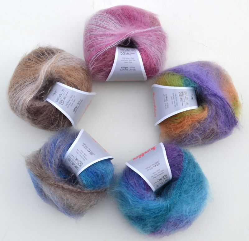mohair wolle mit seide