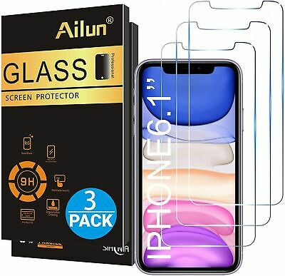 3-Pack Ailun Glass Screen Protector for iPhone 11/iPhone XR 6.1 In.