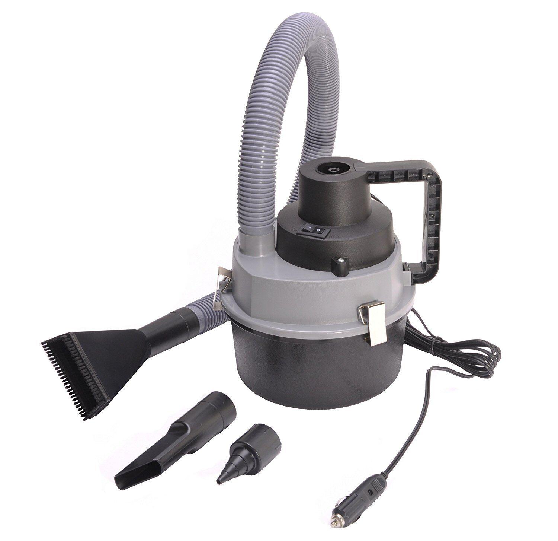 GRAY Handheld multifunction Vacuum Cleaner Car Boat RVLighte