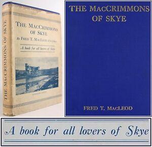 1933*MACCRIMMONS OF SKYE*BAGPIPE MUSIC*PIOBAIREACHD*DUNVEGAN*CLAN MACLEOD*JACKET