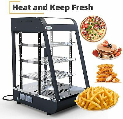 3 Tiers Commercial Food Warmer Countertop Cabinet 25x19x17 Pizza Display Case