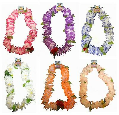 Hawaiian Flower Lei - Choose From 6 Colours - 120cm Luau Garland Party