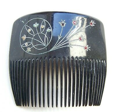 Victorian Wigs, Hair Pieces  | Victorian Hair Jewelry Antique hair comb Victorian engraved hair accessory  $70.00 AT vintagedancer.com