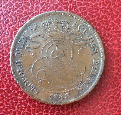 Belgique - Léopold Ier - Jolie  monnaie de 10 Centimes 1848 au lion