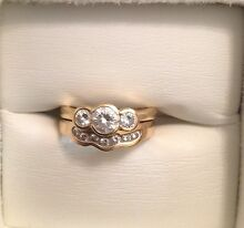 Price Reduced!! 18ct Gold Engagement/Wedding ring set valued $6,700 Landsdale Wanneroo Area Preview