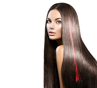 Red LED Hair Extensions Light Up Party Barrettes Fibre Optic Wholesale Glow - Glow Hair Extensions