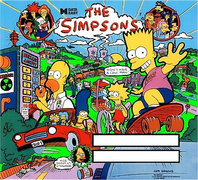 DATA EAST SIMPSONS Pinball Machine Translite Looks Just