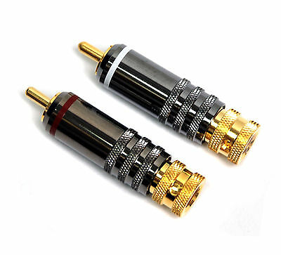 1 Pair Rca Audio Male Plug 1040 Wr Gold-plated Dk Taiwan