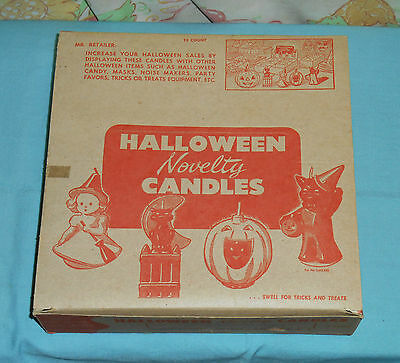 vintage Halloween GURLEY NOVELTY CANDLE candles ORIGINAL STORE DISPLAY BOX