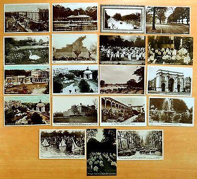 Kensington Arch (19 old Photo Postcards Dog Cemetery Hyde Park Arches Kensington LONDON UK 1919)