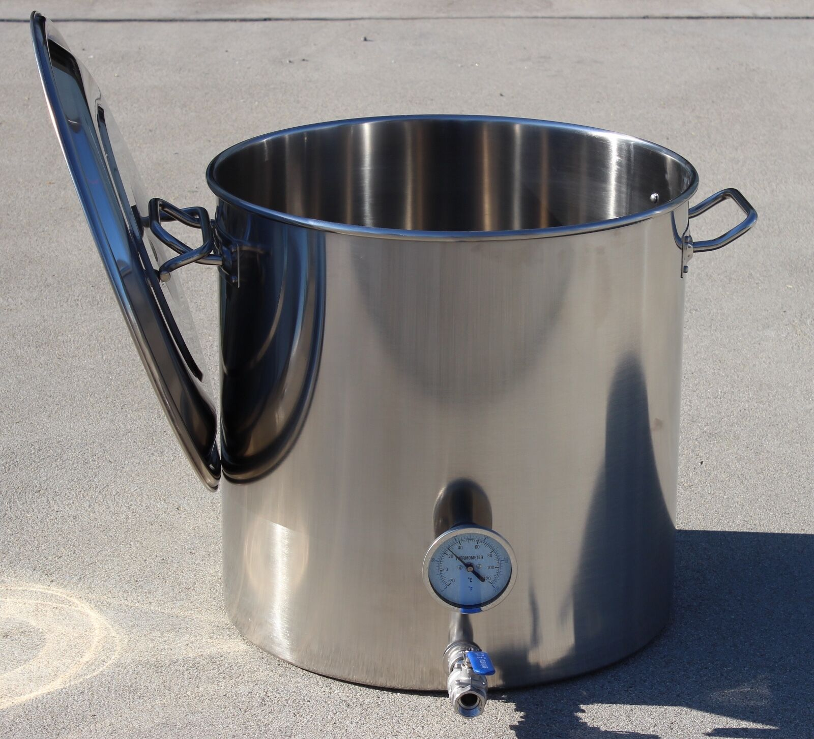 CONCORD Home Brew Stainless Steel Kettle Brewing Stock Pot Beer Wine Set
