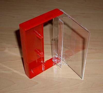 10 Kassettenhüllen Leerhüllen f. Cassetten MCs Hüllen rot Case Box Kassetten Neu