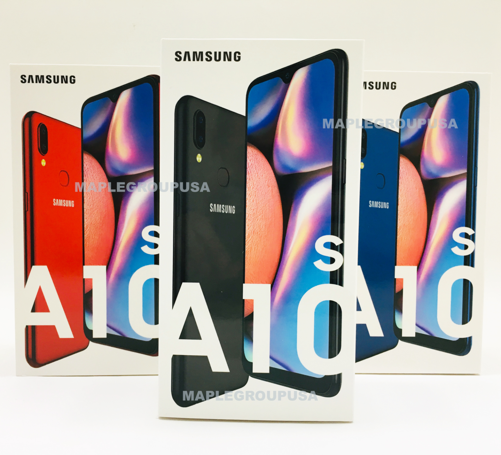 """Android Phone - Samsung Galaxy A10S SM-A107M - 32GB (GSM Unlocked) 6.2"""" 4G LTE Black Blue Red"""