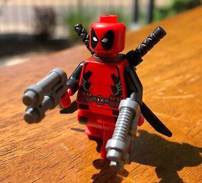 GENUINE LEGO MARVEL SUPER HERO X-MEN DEADPOOL MINIFIGURE ONLY FROM SET 6866 RARE