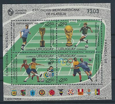 Uruguay Block 72 postfrisch / Fußball (2914) ...................................