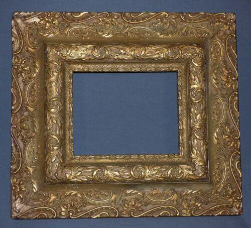 "Antique Ornate Gesso Gilt Wood Frame Art Noveau 21"" x 19"""