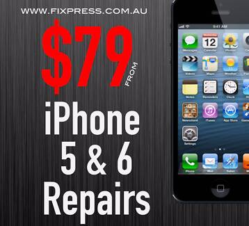  iPhone 5 5c 5s 6 Repair Perth Screen Home button Power Battery West Perth Perth City Preview