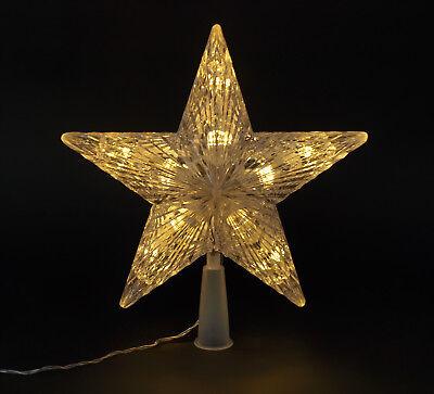 Weihnachtsbaum Spitze Christbaum Spitze Weihnachtsdeko Baumspitze Stern, 10 LED