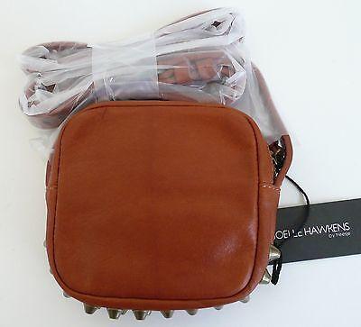 Joelle Hawkens by Treesje Apex Small Mini Crossbody Bag Whiskey Brown Leather