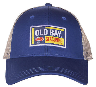 Old Bay Seafood Seasoning Licensed Woven Label Adjustable Baseball Hat Cap ()
