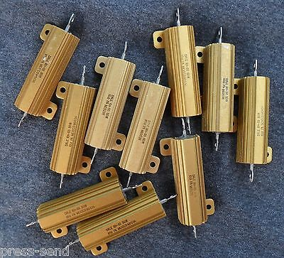 Aluminum Precision 10 25 And 50 Watt Wire Wound Resistors - New And Refurbished