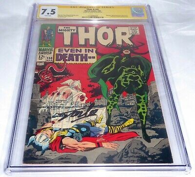 Thor #150 CGC SS Signature Autograph STAN LEE Wrecker Hela Destroyer Inhumans 🔥