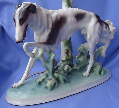 "14"" ART DECO BORZOI AUSTRIA DOG"