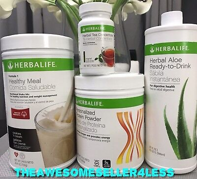 Herbalife Formula 1 Shake  Personalized Protein  Aloe Ready And Herbal Tea   Cup