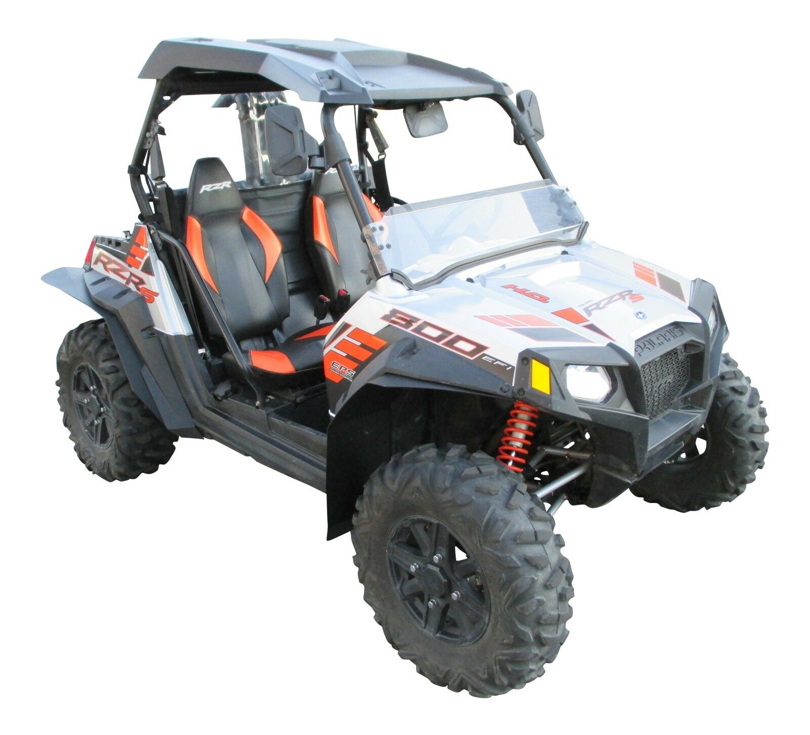 polaris rzr s 800 utv fender flares mud flaps by. Black Bedroom Furniture Sets. Home Design Ideas
