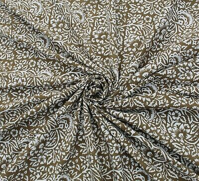 Indian Cotton Running Fabric Loose Craft Floral Sewing Block Print By 5 Yard