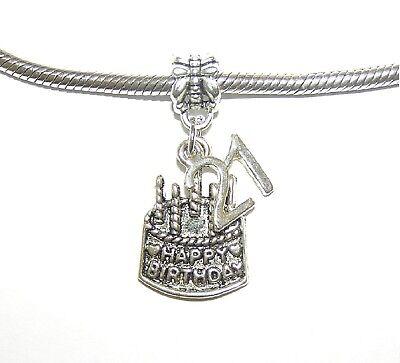 21 number 21st birthday cake gift idea Bracelet necklace charm-European