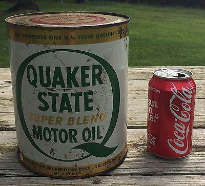 Quaker State Vintage Quart Size Oil Can