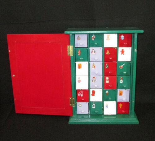 Thomas Pacconi Wooden Advent Calendar Set 23 Glass Christmas Ornaments