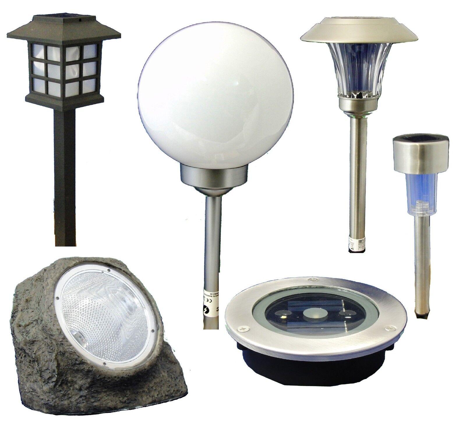 Image Lampe solaire LED Luminaire de jardin Pierre Boule Lanterne