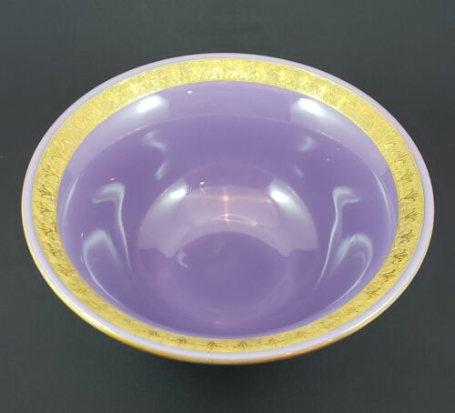 Cambridge Glass Helio Large Console Bowl - Etched and Gold Encrusted