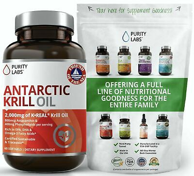 Antarctic Krill Oil WIld Caught - Softgels With Astaxanthin
