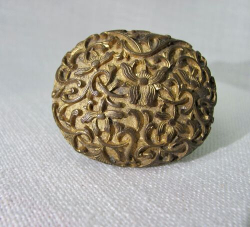 Antique Chinese Gilt Brass Belt Buckle from Penang, Malaysia