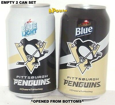 PITTSBURGH PENGUINS 2016 LABATT BEER CAN SET BLUE NHL ICE HOCKEY CANADA-PA SPORT