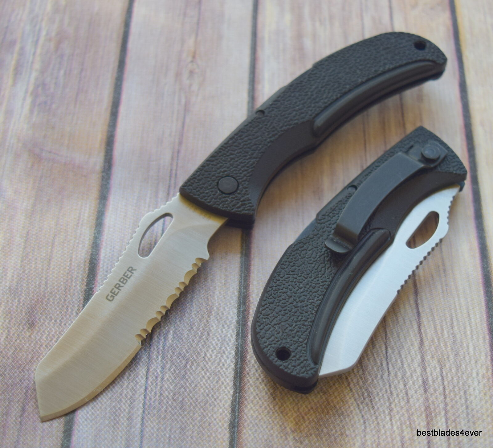 "GERBER EZ-OUT DPSF LOCKBACK FOLDING KNIFE ""MADE IN USA"""
